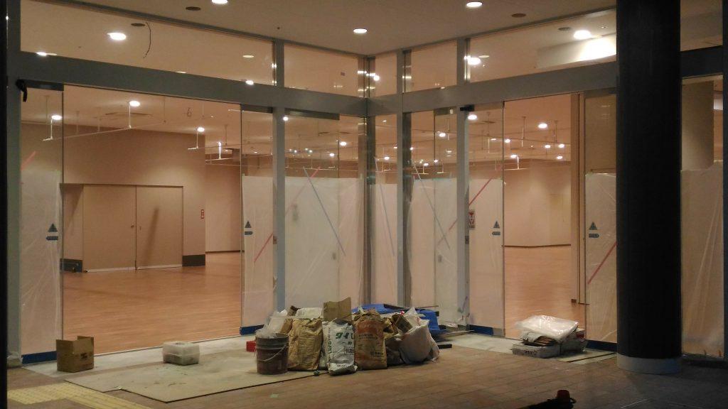 ニトリ渋谷店 開店準備中の内部